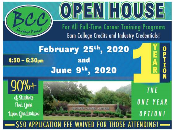 Open House 2/25/20 & 6/9/20 from 4:30pm-6:30pm